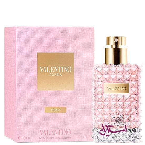 Valentino Donna Acqua box - ادو تویلت زنانه ولنتینو مدل Donna Acqua حجم 100 میلی لیتر