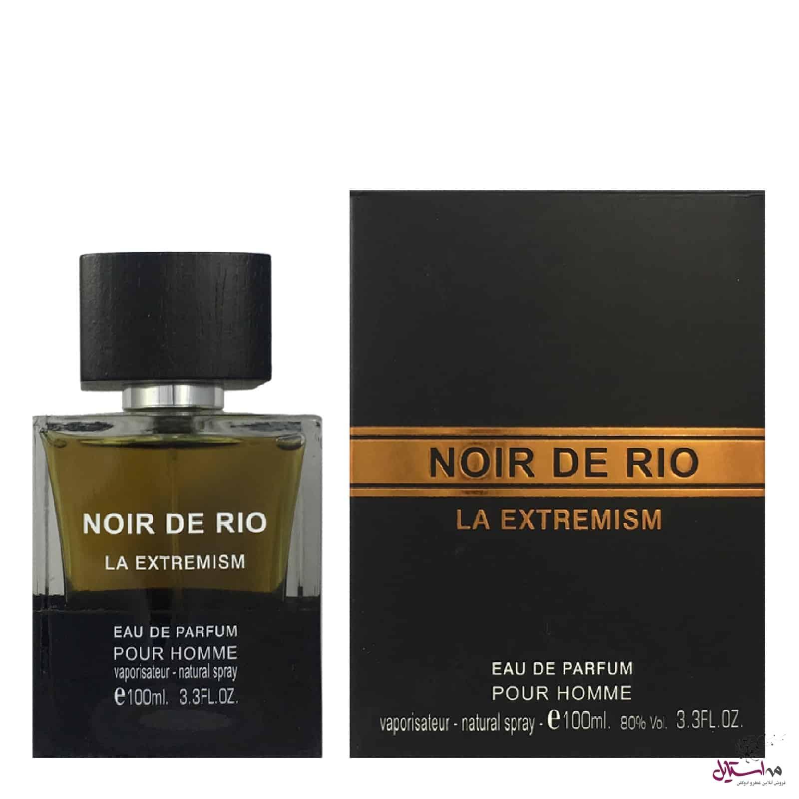 68598 xl f 809 - ادو پرفیوم مردانه ریو کالکشن مدل Rio Noir De Rio La Extremism حجم 100ml