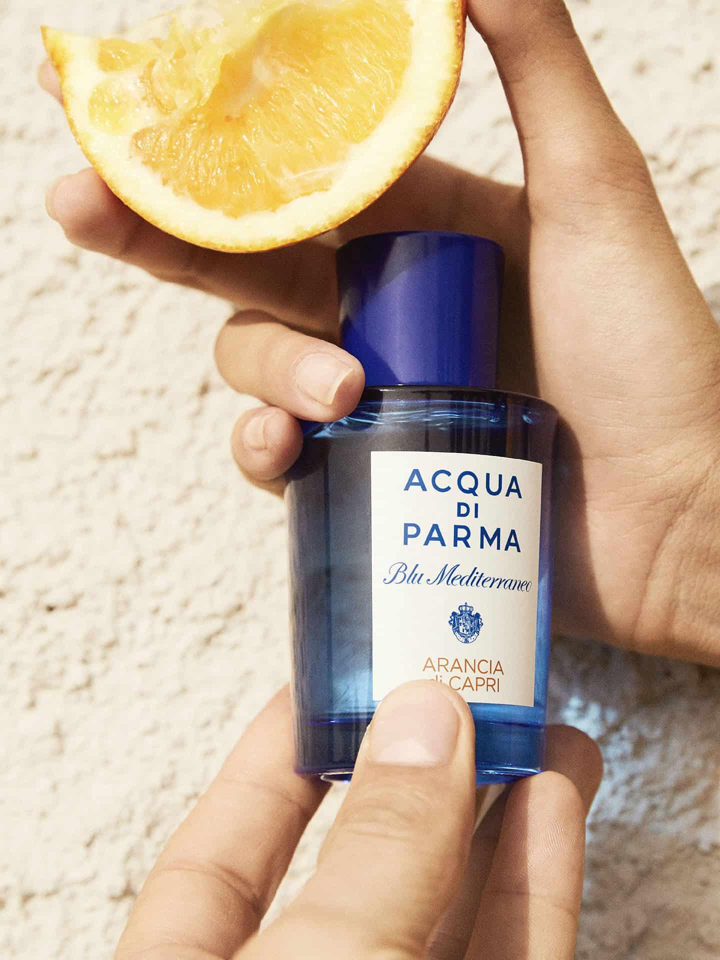 000327264alt2 - ادو تویلت مردانه آکوا دی پارما سری Blu Mediterraneo مدل Arancia Di Capri حجم 150 میلی لیتر